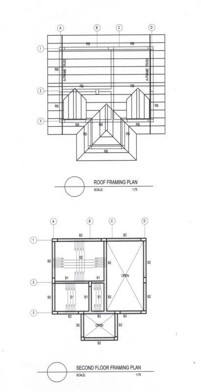 st 02 second floor framing plan roof framing plan